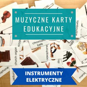 """KARTY """"INSTRUMENTY ELEKTRYCZNE"""" (język polski / angielski lub zestaw pl+ang)"""