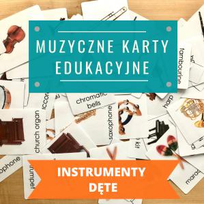 """KARTY """"INSTRUMENTY DĘTE"""" (język polski / angielski lub zestaw pl+ang)"""